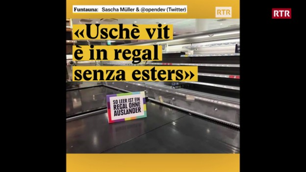 "Laschar ir video «""Uschè vit è in regal senza esters""»"