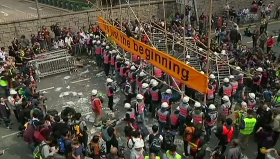 Räumungen in Hongkong (unkomm.)