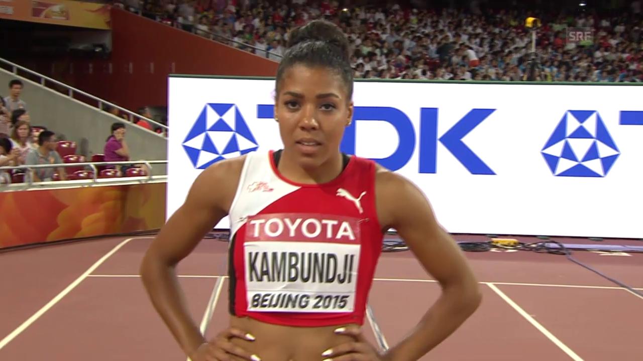LA, WM 2015, 100 m Frauen, Kambundjis Schweizer Rekord