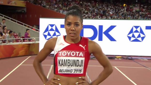 Video «LA, WM 2015, 100 m Frauen, Kambundjis Schweizer Rekord» abspielen