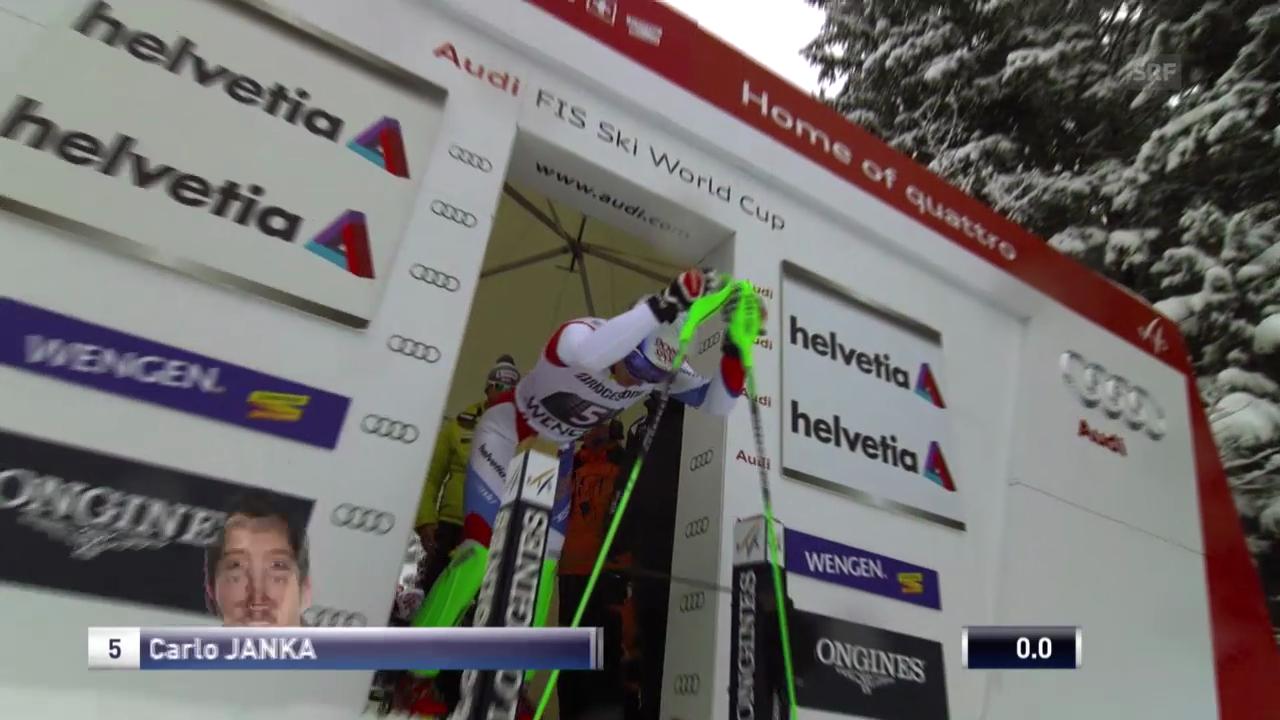 Ski: Weltcup, Super-Kombination, Slalom Janka