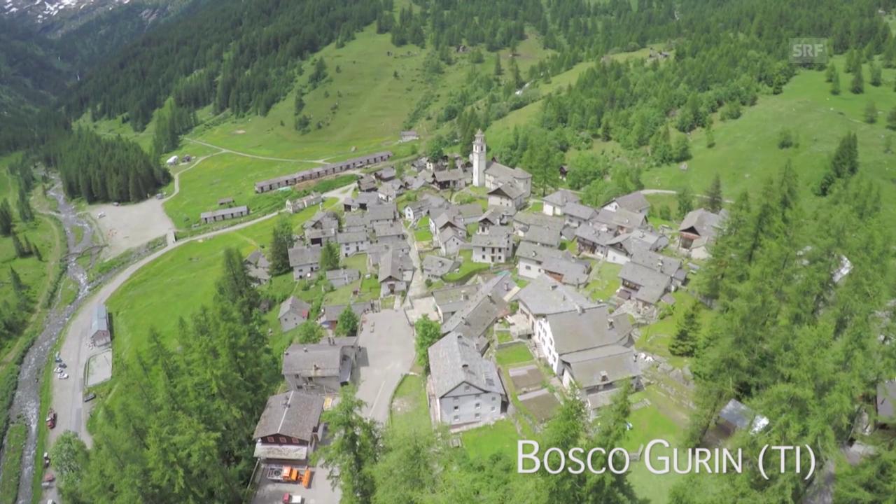 Bosco Gurin (TI) aus der Luft