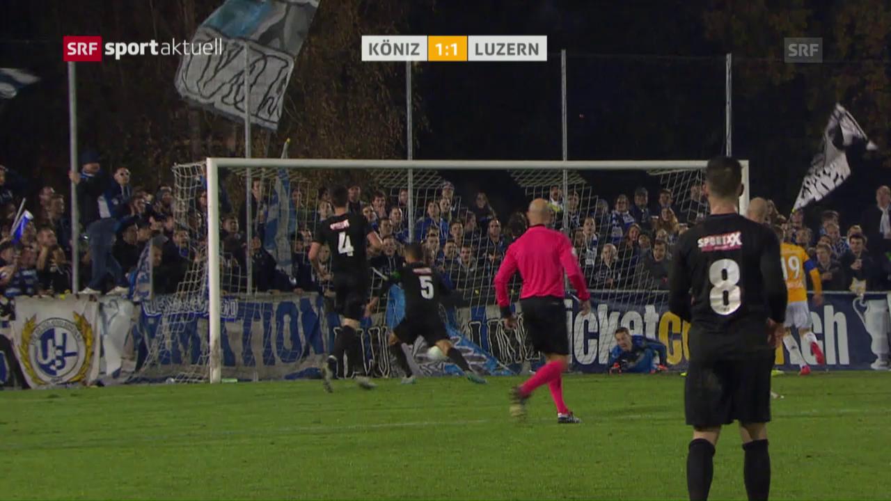 Köniz verpasst gegen Luzern den nächsten Cup-Coup
