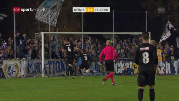Video «Köniz verpasst gegen Luzern den nächsten Cup-Coup» abspielen