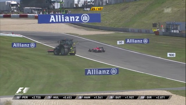 Bianchis defektes Auto rollt rückwärts («sportlive»)