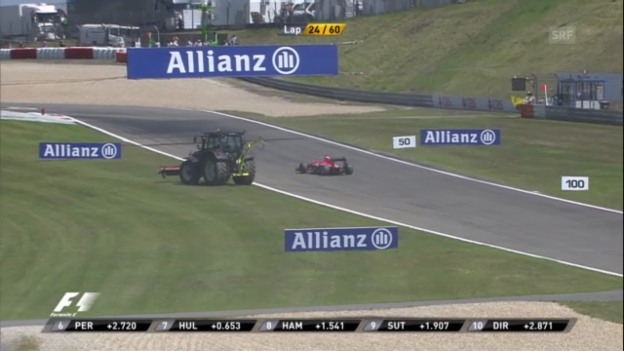 Video «Bianchis defektes Auto rollt rückwärts («sportlive»)» abspielen