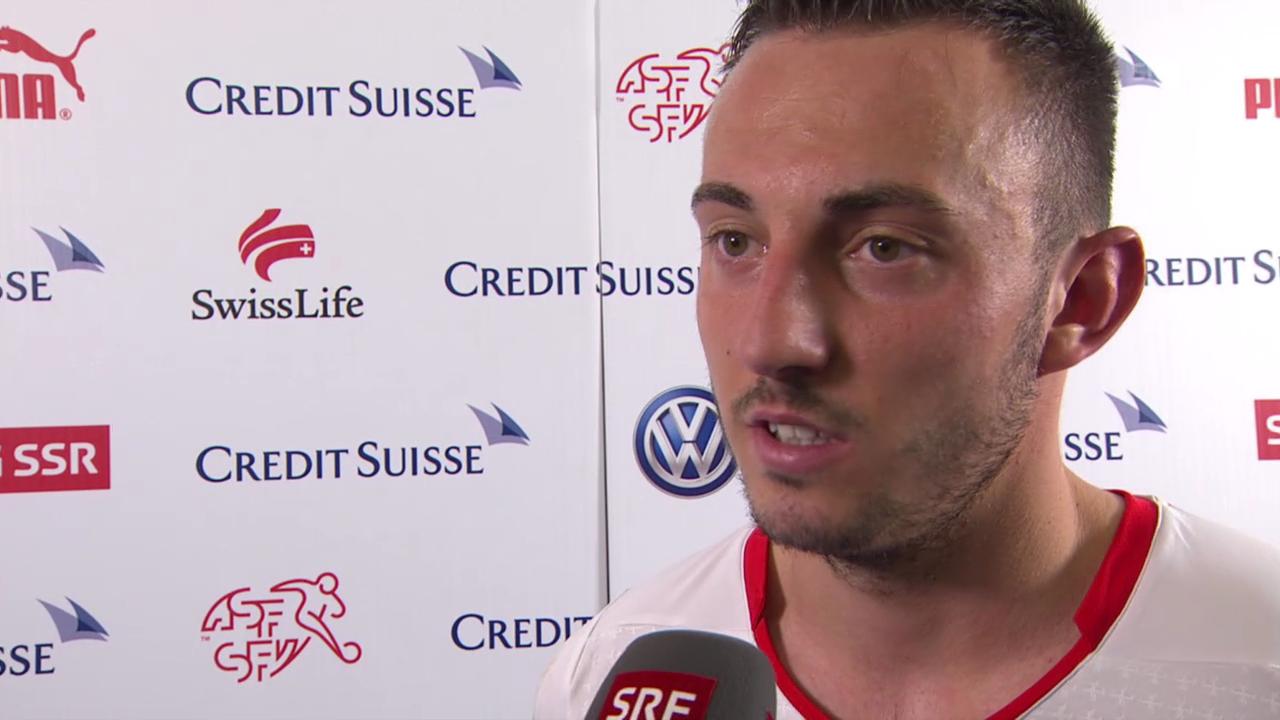 Fussball: Schweiz-Jamaika, Interview Josip Drmic