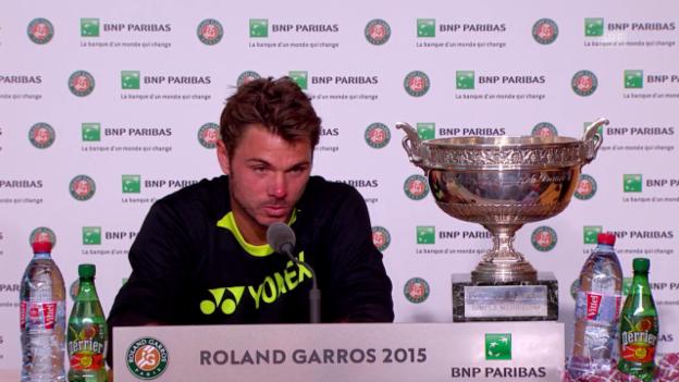 Video «Tennis: French Open, PK Wawrinka» abspielen