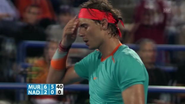 Video «Tennis: Exhibition Abu Dhabi, Nadal-Murray, Matchball» abspielen