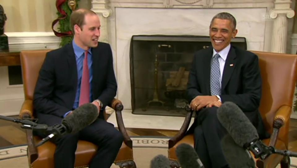 William trifft Obama