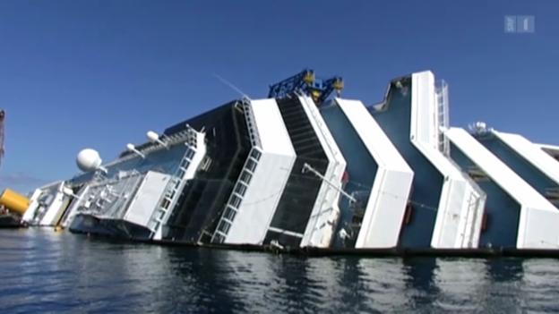 Video «Costa Concordia: Bergung mit Schwierigkeiten» abspielen