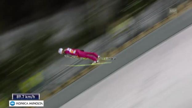 Video «Skispringen: Weltcup in Kuopio, 2. Sprung von Kamil Stoch» abspielen
