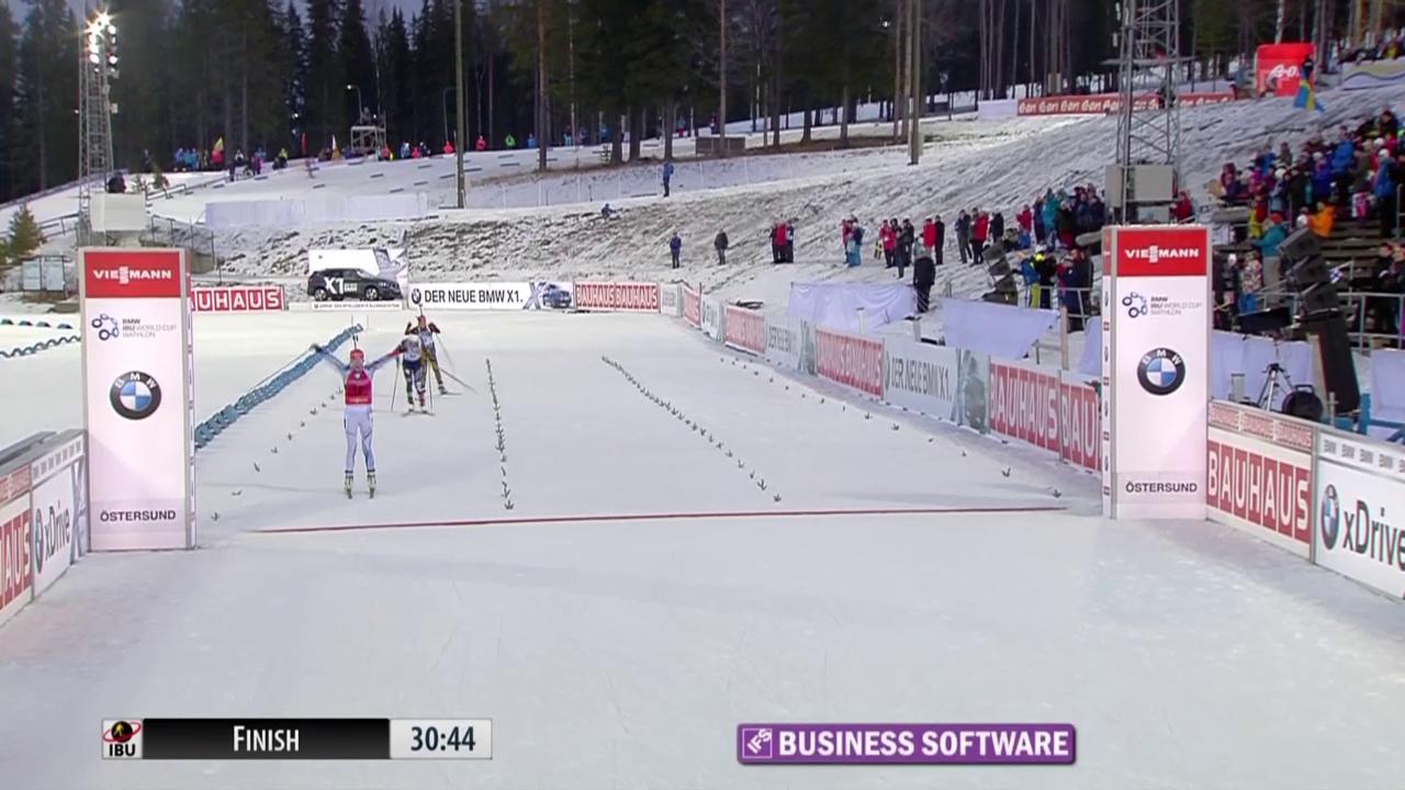 Biathlon: Zieleinlauf Mäkäräinen