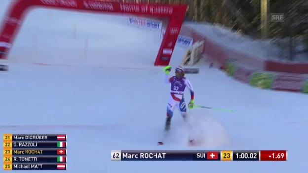 Video «So qualifizierte sich Marc Rochat für den 2. Lauf» abspielen