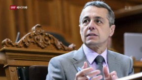 Video «Gesprächiger Aussenminister Cassis» abspielen