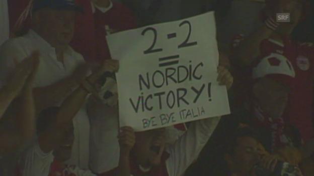 Video «Fussball: EURO-Quali, vor dem Duell Schweden - Dänemark» abspielen