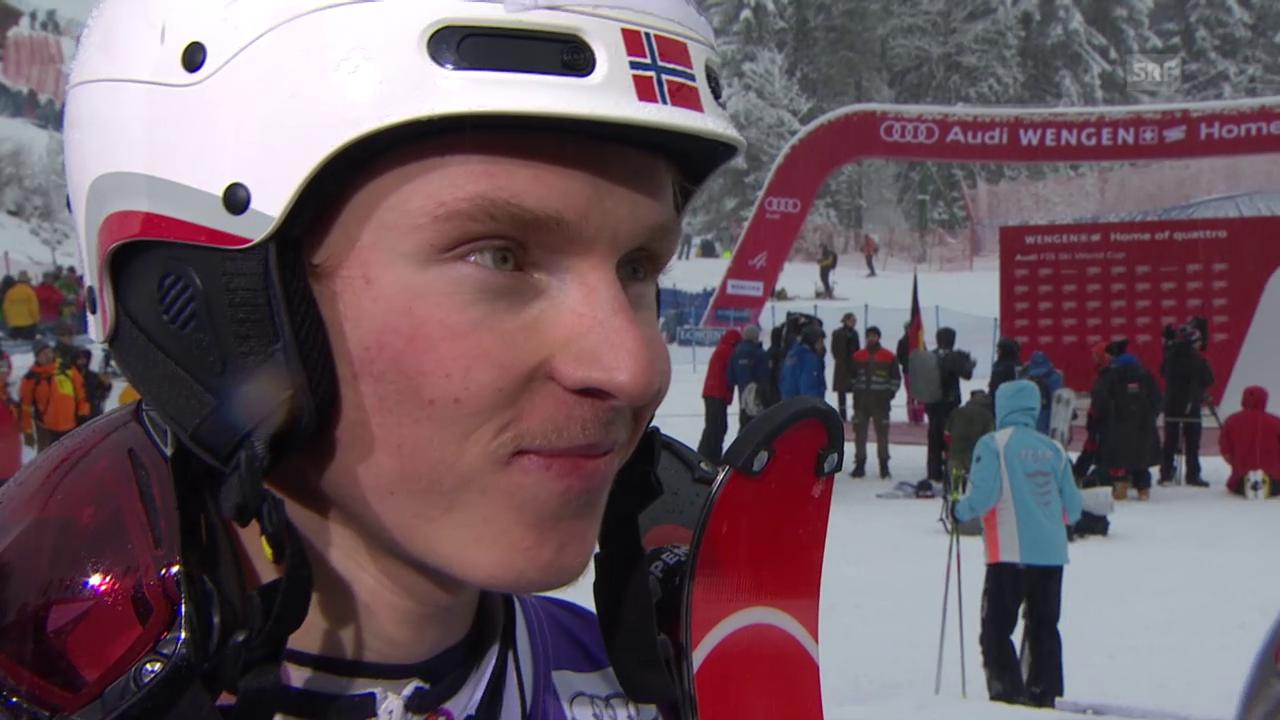 Ski: Slalom in Wengen, Interview mit Henrik Kristoffersen