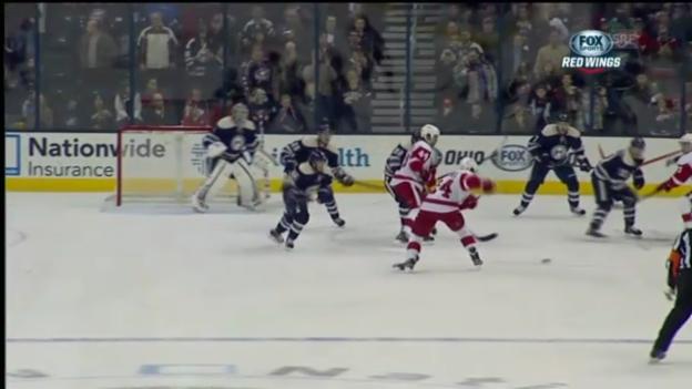 Video «NHL: Alle Tore bei Columbus-Detroit» abspielen