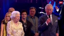 Video «Queen feiert Geburtstagskonzert» abspielen