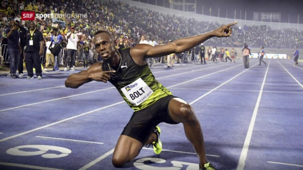 Video «Bolt läuft letztes Rennen auf Jamaika» abspielen