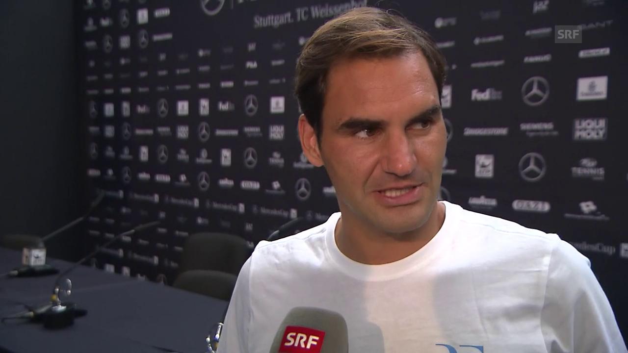 Federer: «Ich kann sehr zufrieden sein mit diesem Match»