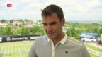 Video «Roger Federer vor dem Turnier in Stuttgart» abspielen
