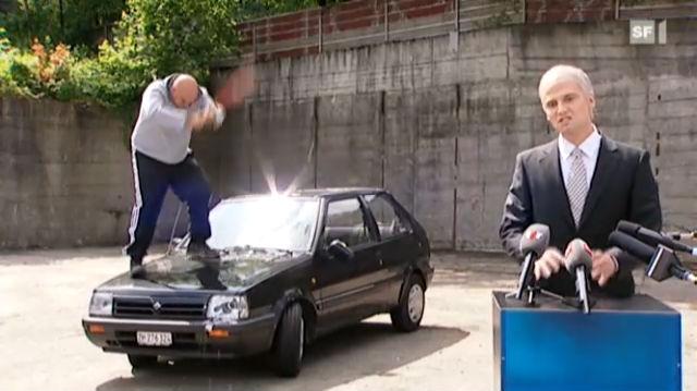 Hooligans auf der Strasse