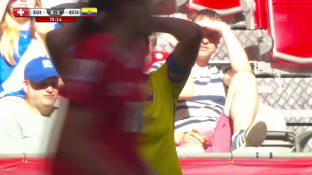 Video «Fussball: Frauen-WM, Schweiz-Ecuador, das 8:1» abspielen