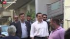 Video «Tsipras' Linksbündnis liegt knapp vor den Konservativen» abspielen