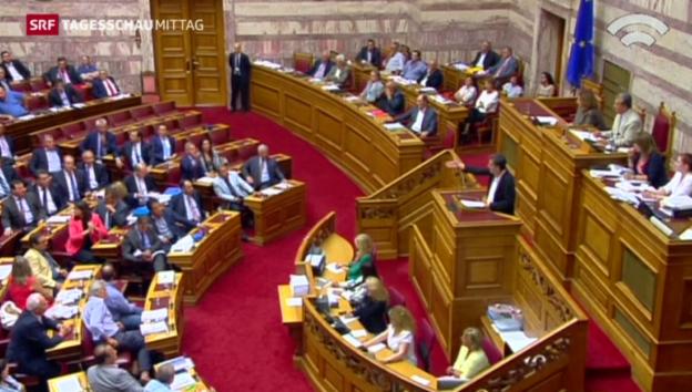 Video «Griechisches Parlament sagt Ja zum Reformpaket» abspielen