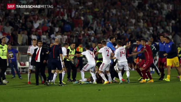 Video «Gewaltausbrüche bei Fussballspiel» abspielen