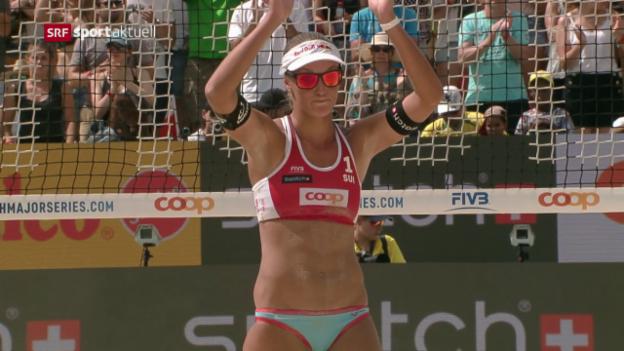 Video «Schweizer Beach-Frauen in Gstaad Vierte» abspielen