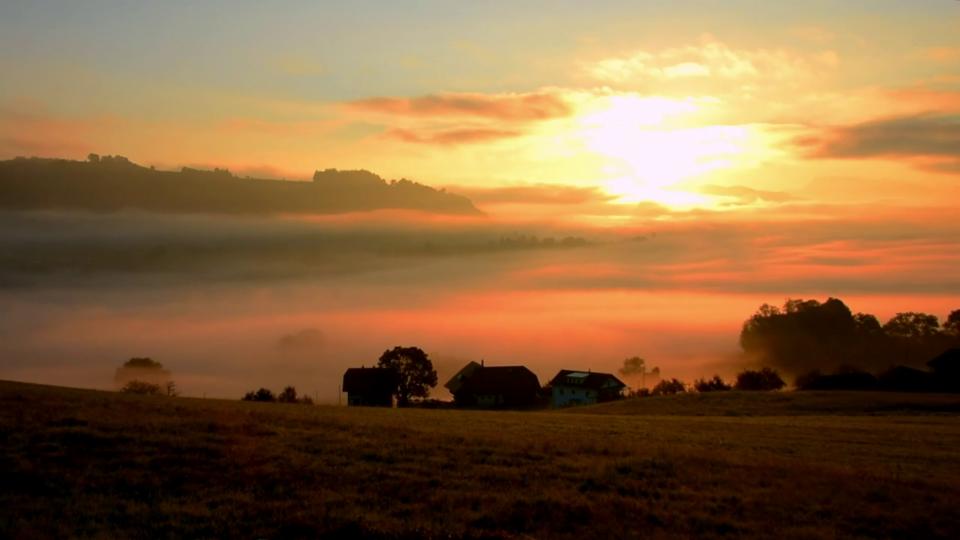 Herbstlicher Sonnenaufgang in Rümligen/BE, 18. September, Lukas Wyss
