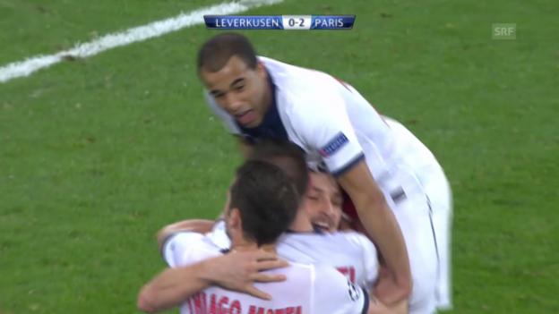 Video «Fussball: CL, Achtelfinal-Hinspiel, Leverkusen - PSG» abspielen