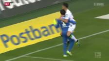 Video «Fussball: Bundesliga, Gladbach - Köln, Das Siegestor von Granit Xhaka» abspielen