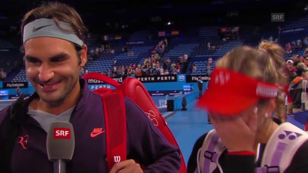 Video «Federer: «Haben dank Belinda gewonnen»» abspielen