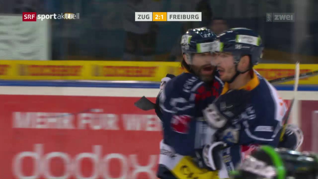 Zug kehrt gegen Freiburg zum Siegen zurück