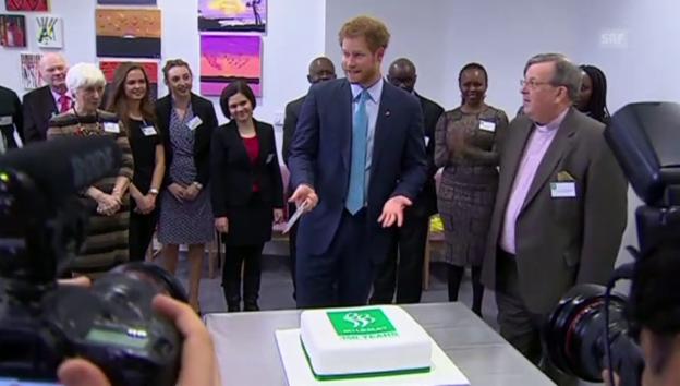 Video «Prinz Harry auf den Spuren seiner Mutter» abspielen
