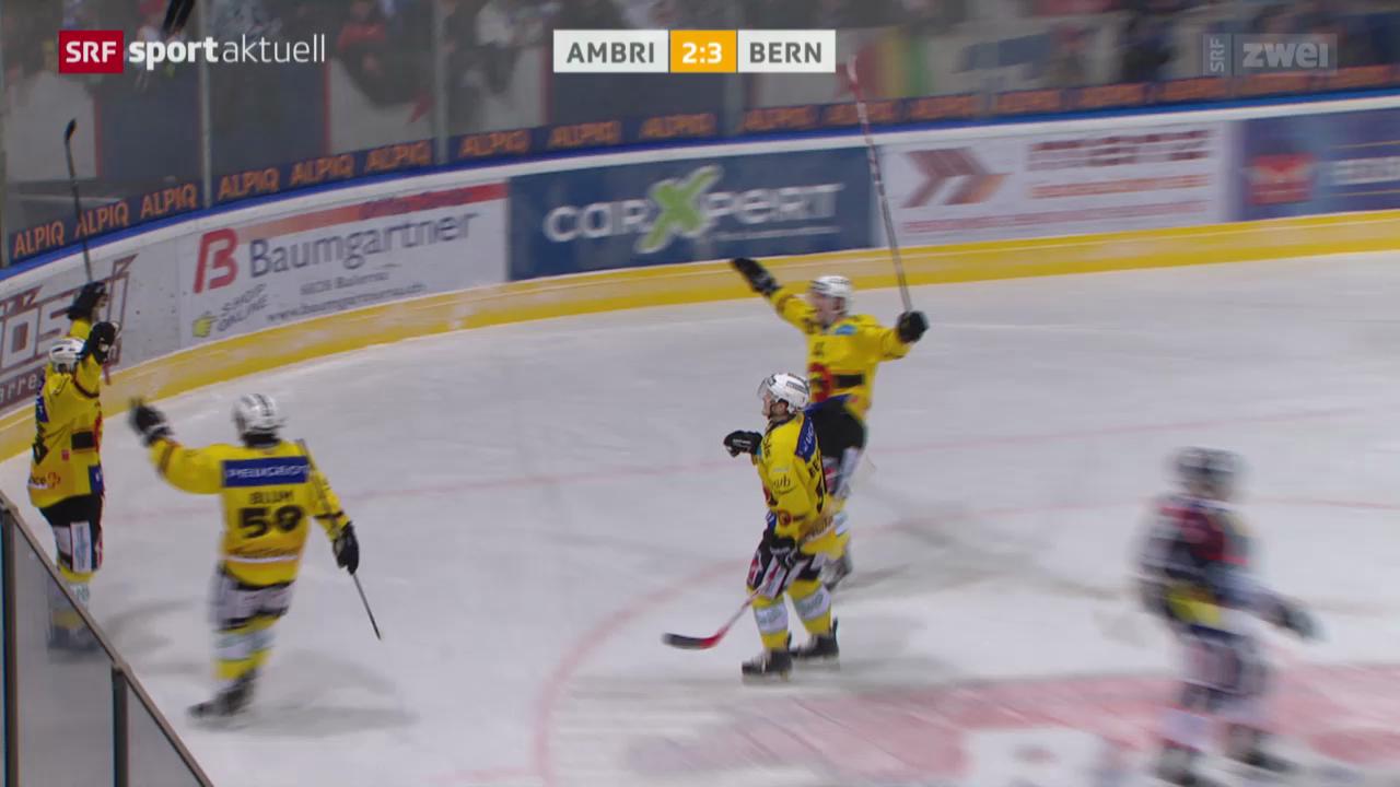 Eishockey NLA: Ambri - SC Bern