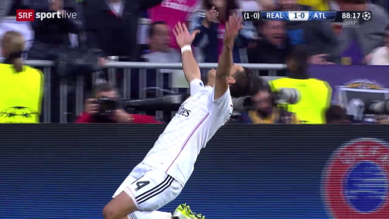 Fussball: Champions League, Viertelfinal-Rückspiel, Real - Atletico, Tor Chicharito
