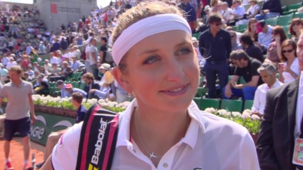 Video «Tennis: French Open, Viertelfinals, Interview Bacsinszky» abspielen