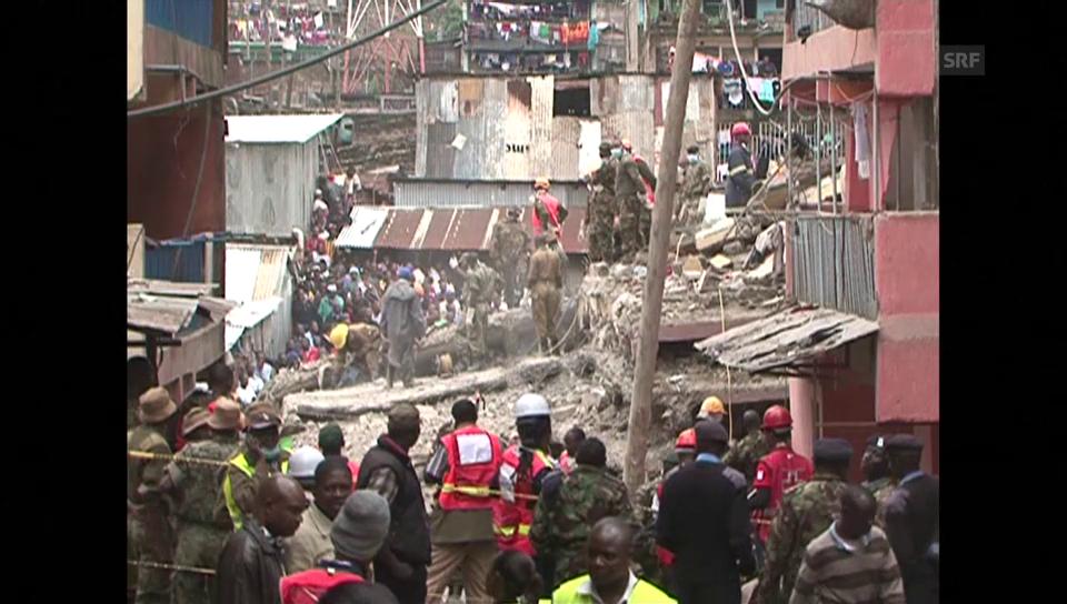 Die Trümmer begruben über 150 Menschen unter sich
