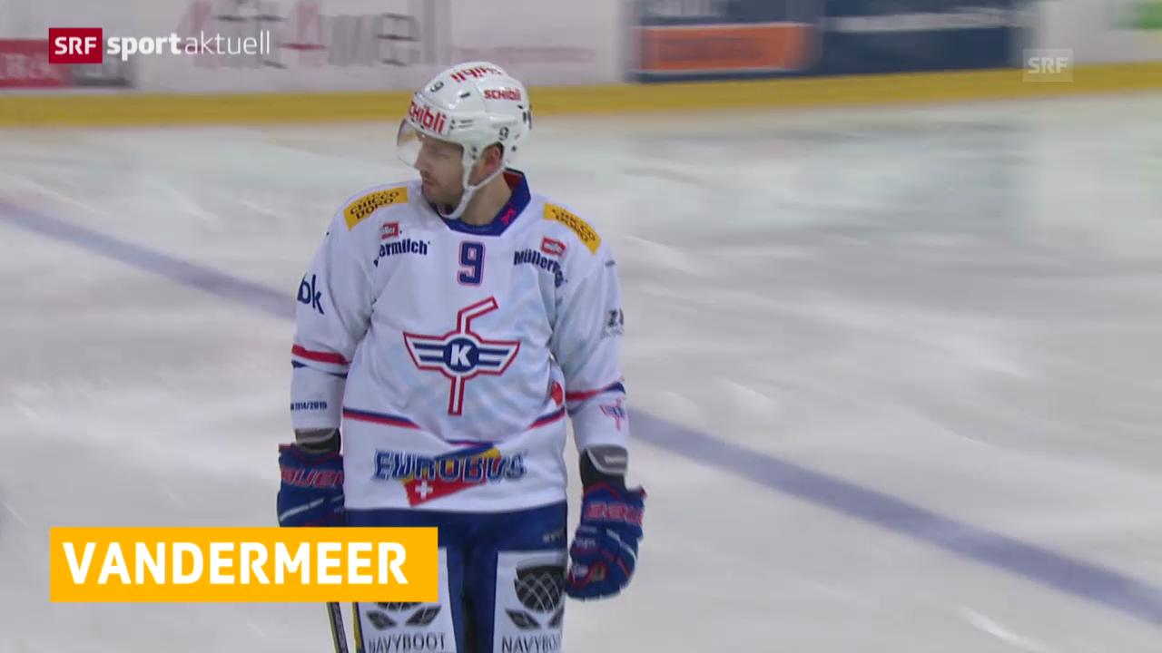 Eishockey: 6 Spiele Sperre für Jim Vandermeer («sportaktuell»)