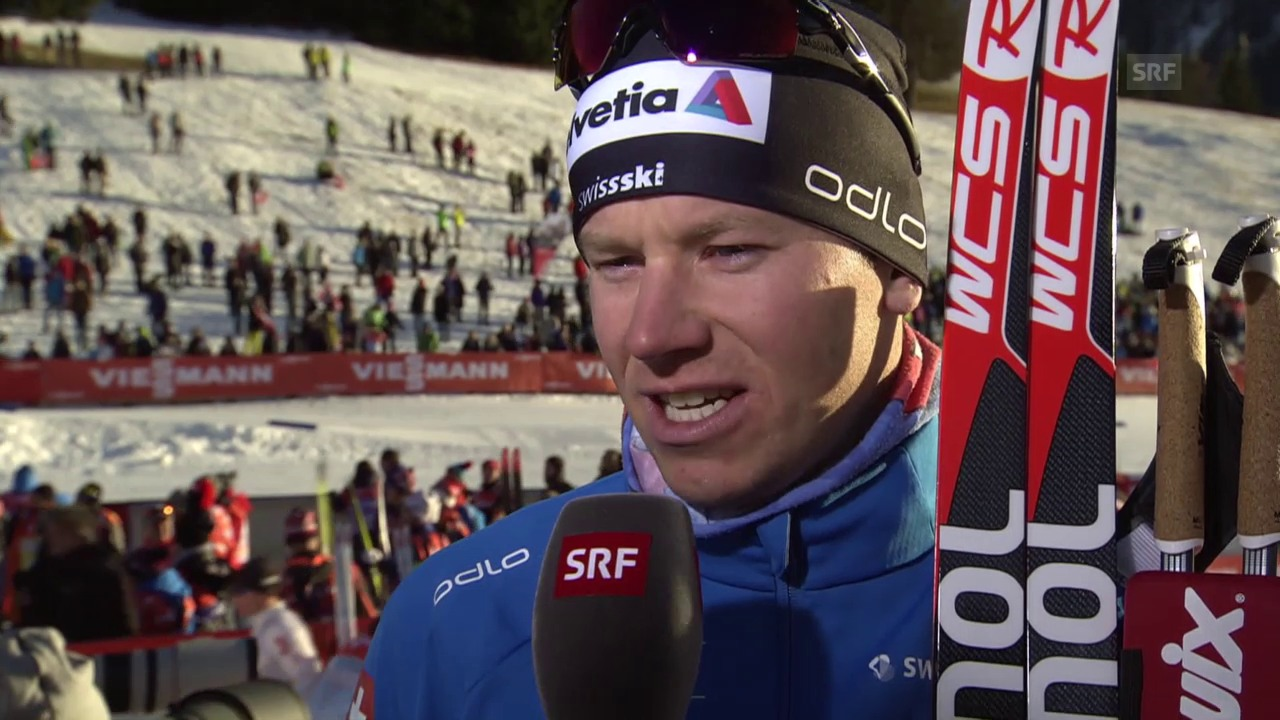 Langlauf: Weltcup, 30 km Davos, Interview Toni Livers