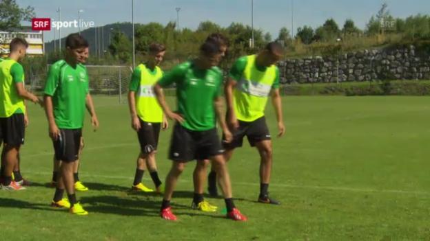 Video «St. Gallen vor dem Spiel gegen Moskau («sportlive»)» abspielen