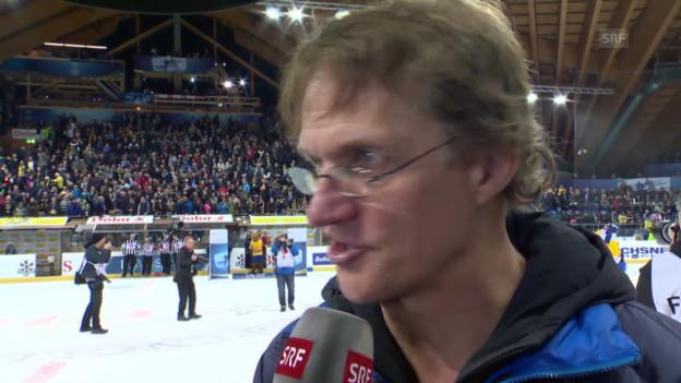 Video «Eishockey: Spengler Cup 2015, Interview Arno Del Curto» abspielen