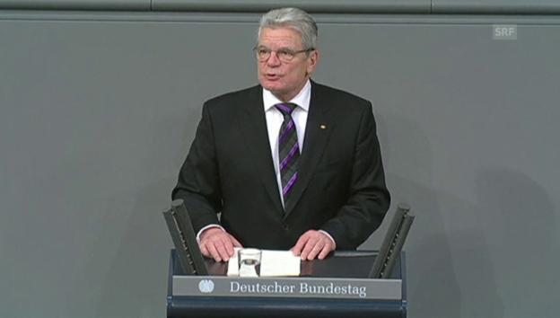 Video «Auschwitz-Gedenkfeier Rede Gauck» abspielen