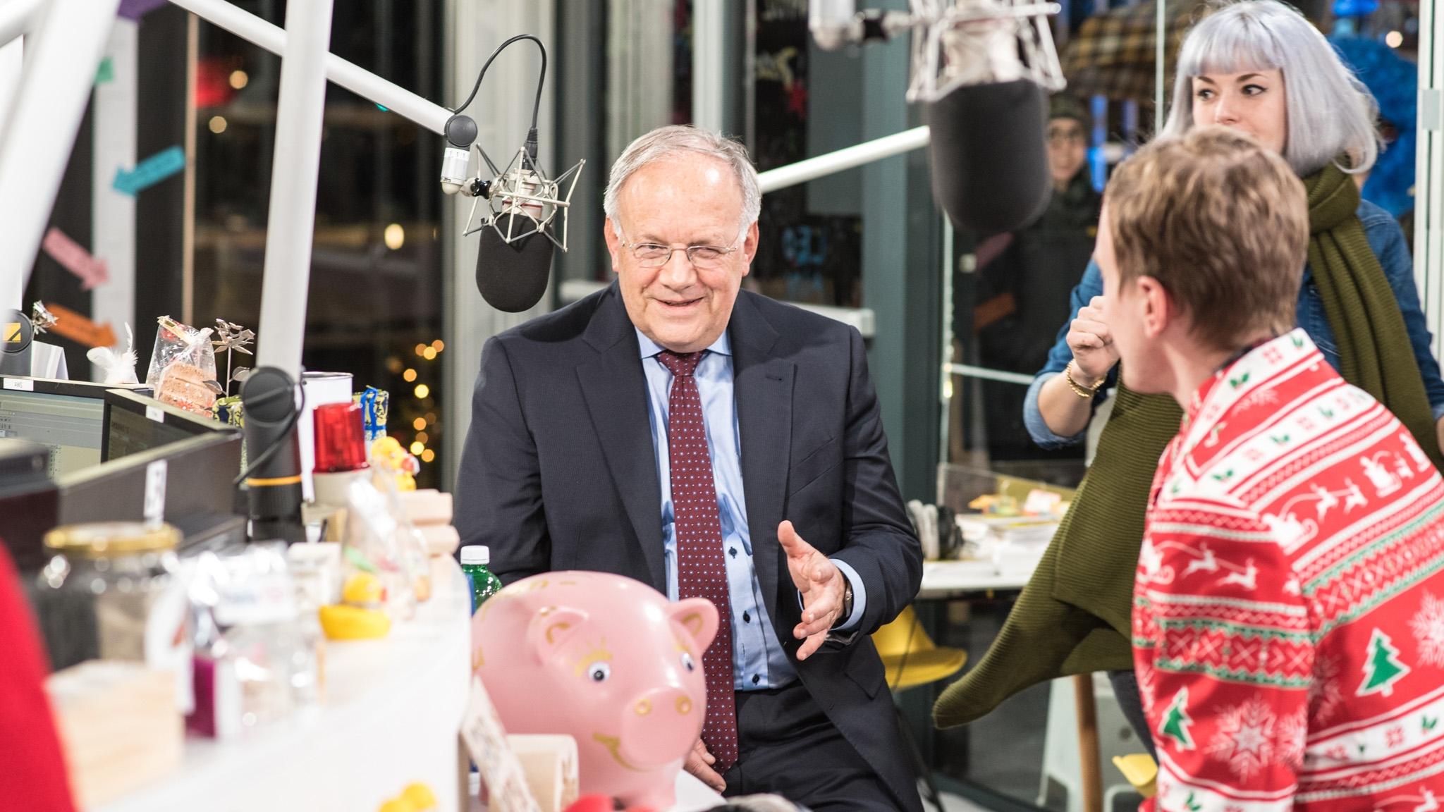 Bundesrat Johann Schneider-Ammann live in der Glasbox: Teil 1