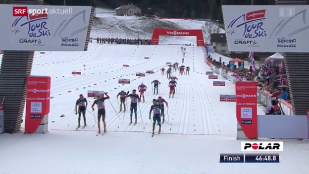 Video «Langlauf: Tour de Ski, 6. Etappe» abspielen