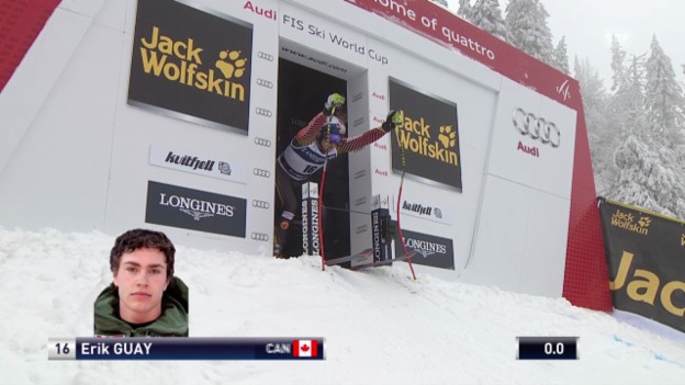 Video «Ski Alpin: Abfahrt Kvitfjell, Fahrt von Guay («sportlive», 01.03.2014)» abspielen